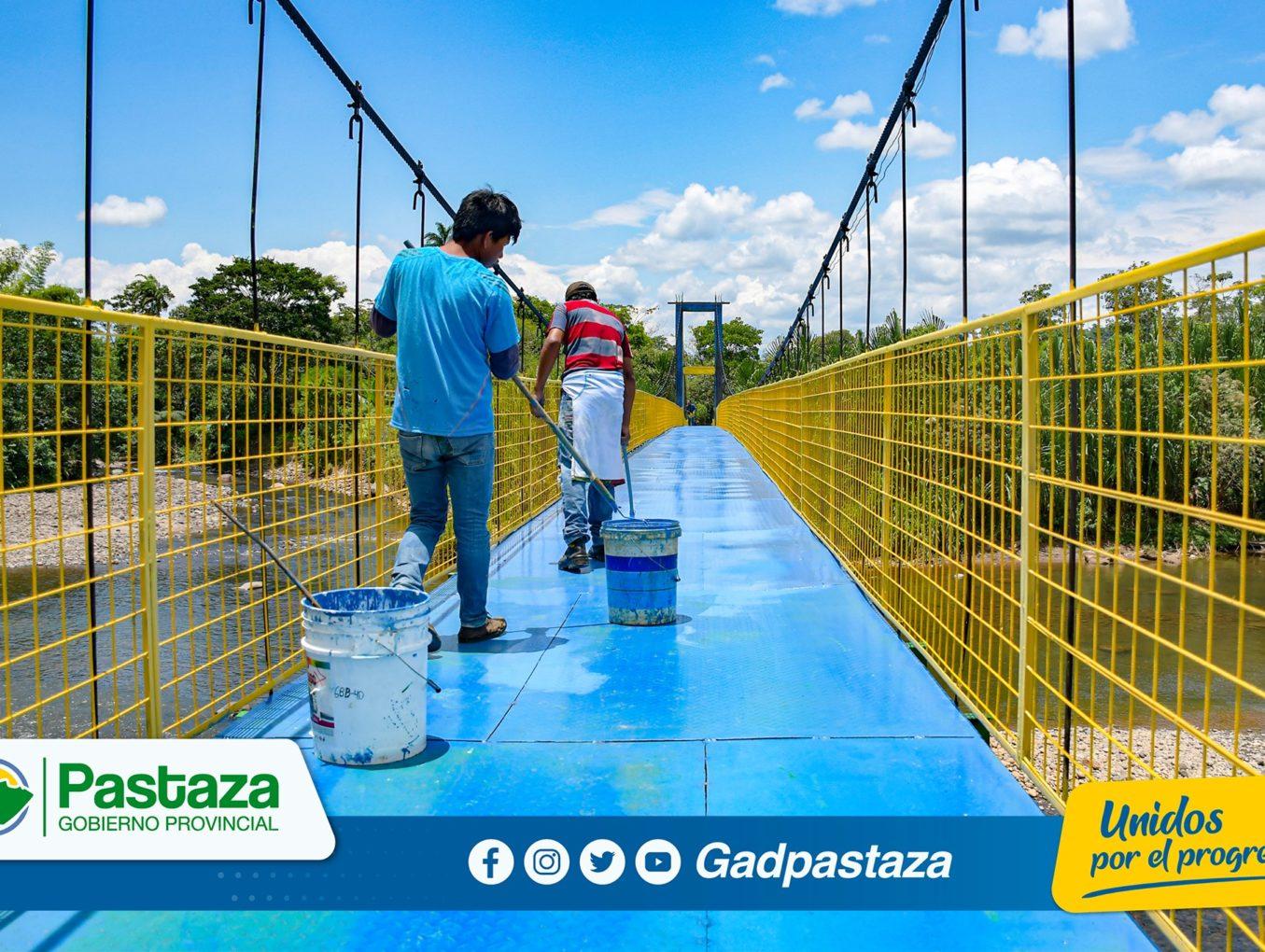 ¡Concluyó mantenimiento del puente colgante de la comunidad Bellavista!