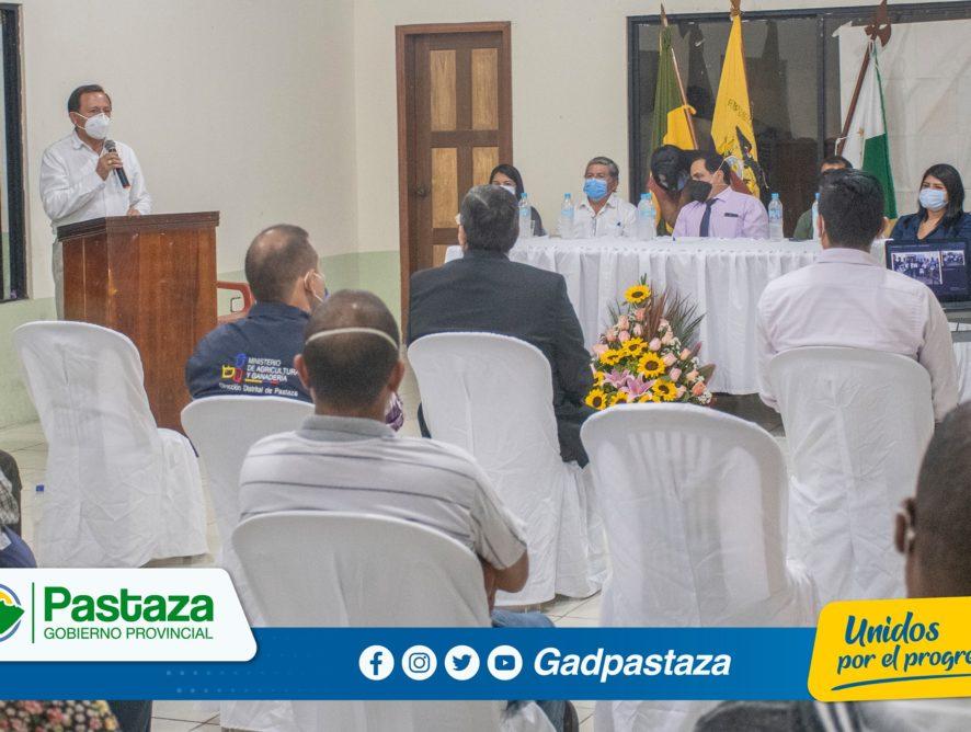 Jaime Guevara, Prefecto de Pastaza, participó del acto público de Rendición de Cuentas del Gad Parroquial de Fátima.