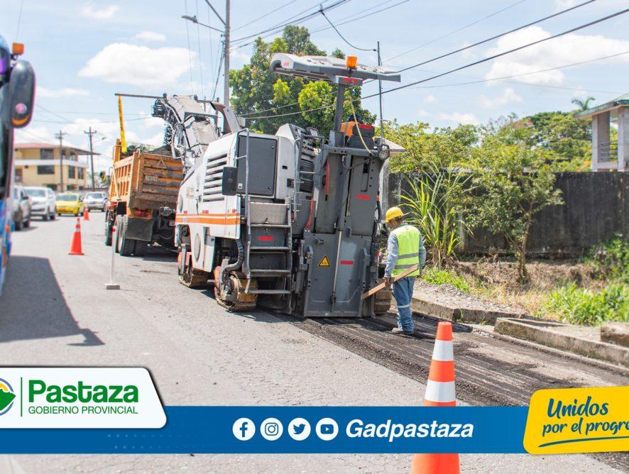 A buen ritmo continúan los trabajos de rehabilitación  de la vía Puyo-Tarqui hasta la Y de Putuimi