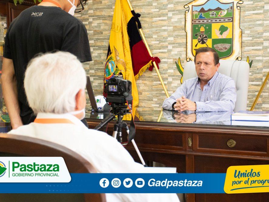 Periodista de Gamavisión entrevistó al Prefecto sobre la gestión institucional