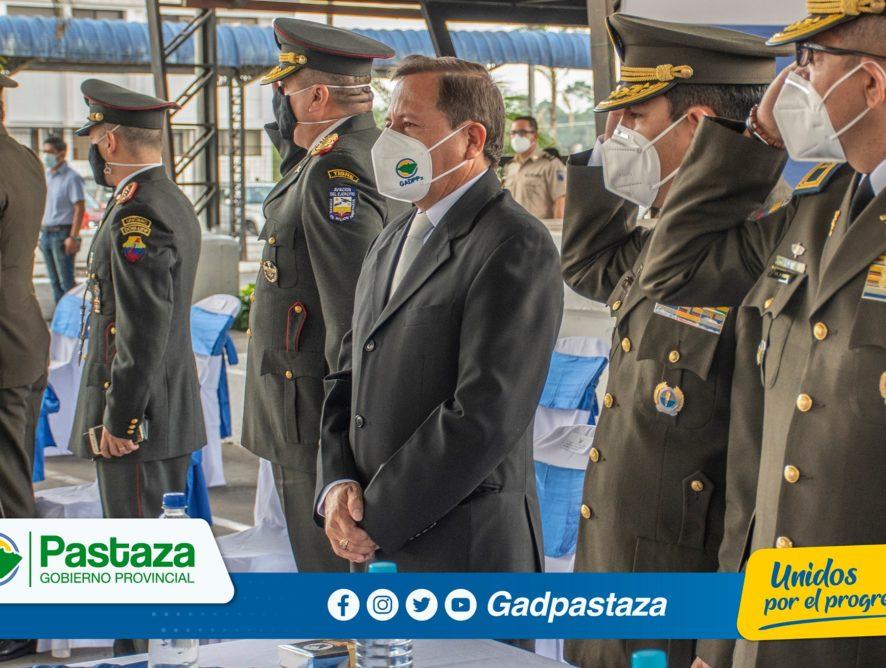 Prefecto participó del cambio de mando en el Comando de Policía de la Subzona Pastaza