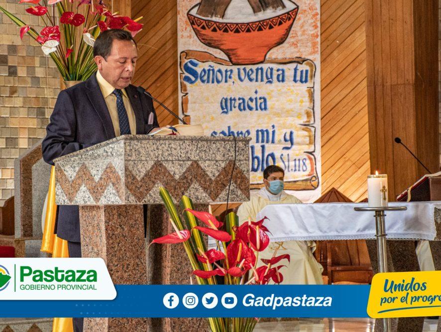 Prefectura de Pastaza , realizó Misa de Acción de Gracias por los 61 años de provincialización de Pastaza!