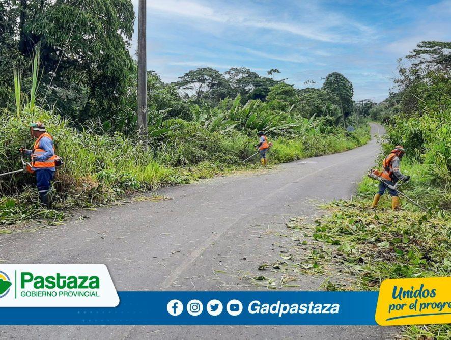 Se realizan trabajos de limpieza de laterales en la vía Y de Putuimi-Chinchayacu