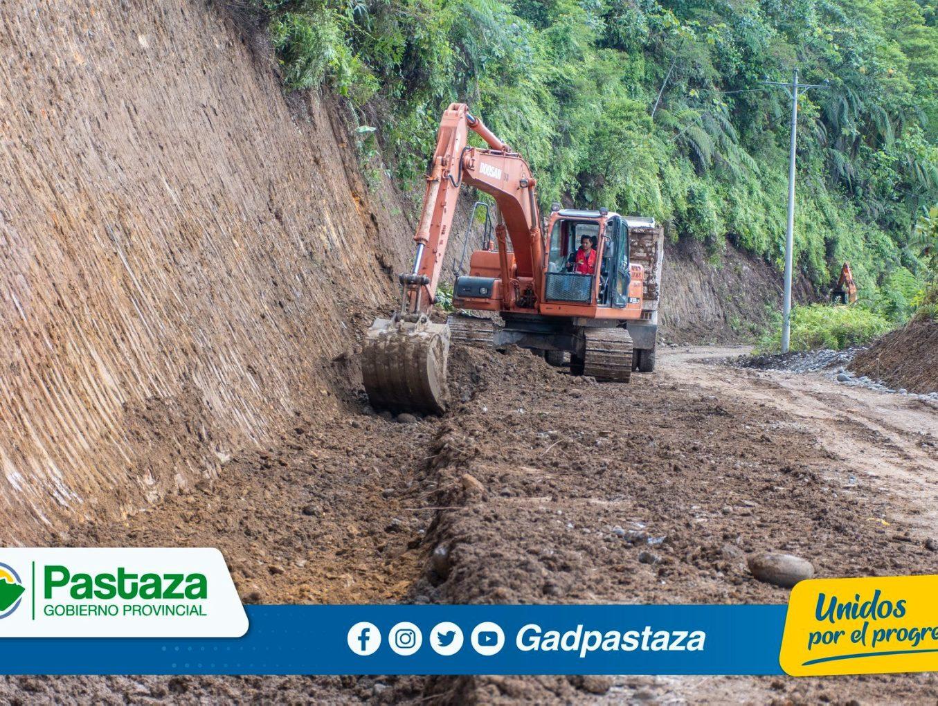 ¡El mejoramiento vial  en la provincia de #Pastaza no se detiene!