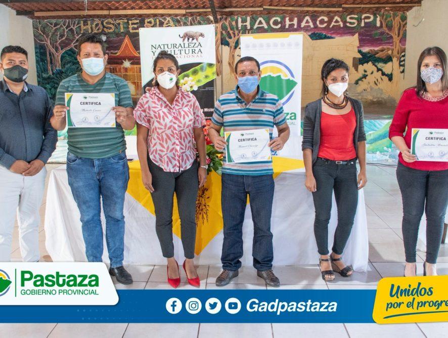 ¡ Prefectura de Pastaza entregó certificados a los funcionarios que participaron de los cursos de capacitación!