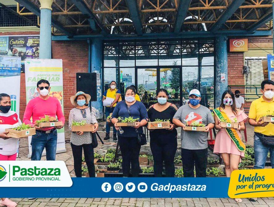 Prefectura de Pastaza entregó en la parroquia Shell, hortalizas a quienes participaron en la capacitación de huertos familiares