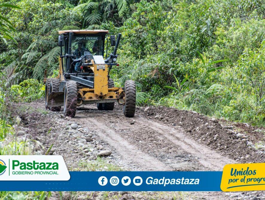¡Trabajamos en el mantenimiento  de la vía  San Virgilio-Atacapi-Liquino!