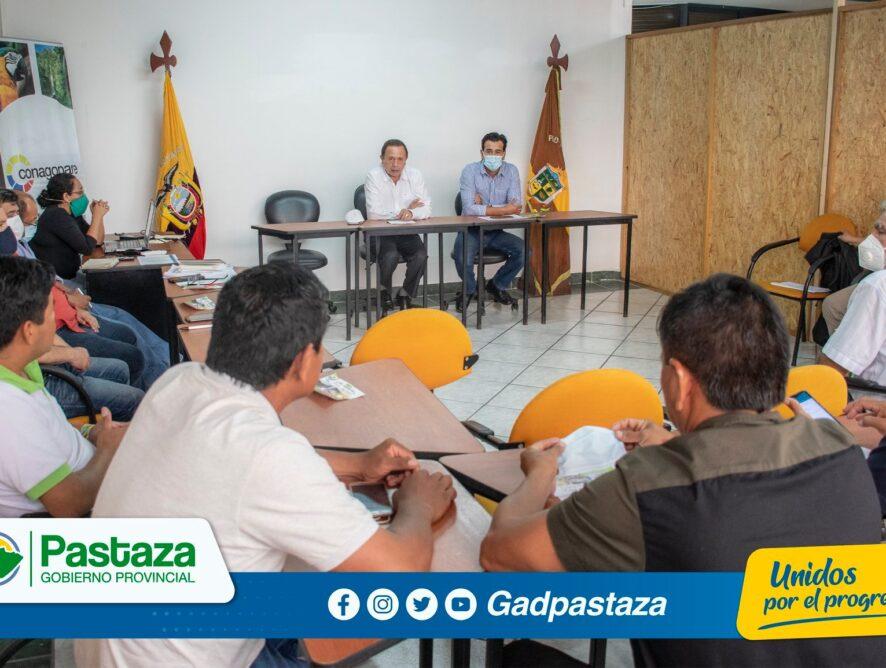¡Prefecto de Pastaza se reunió con presidentes de los GADs Parroquiales!