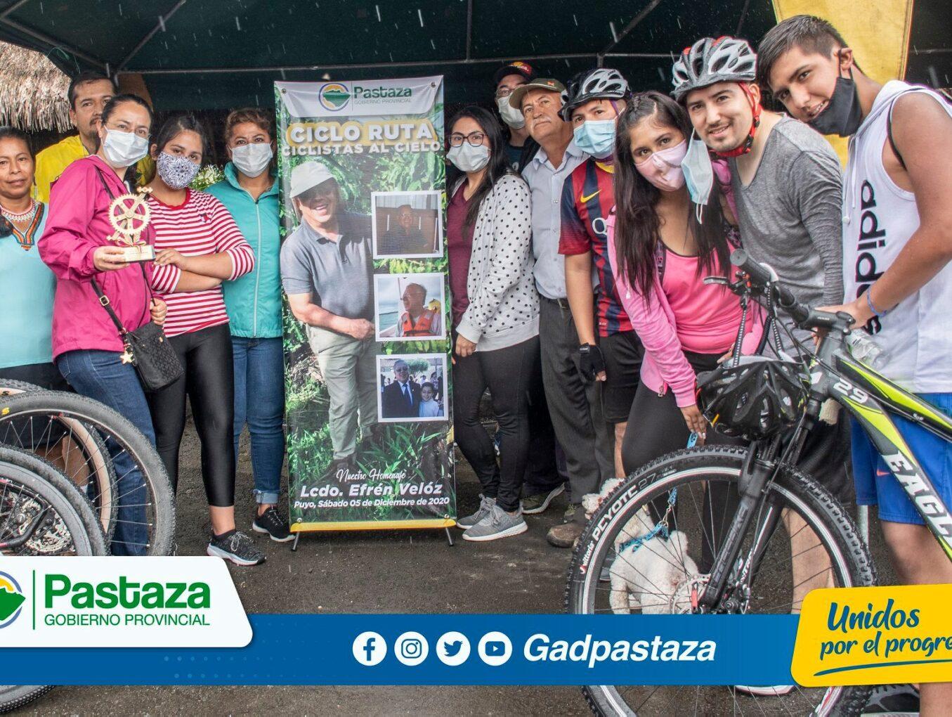 """¡326 ciclistas  participaron de otra edición de la Ciclo Ruta """"Ciclistas al Cielo""""!"""