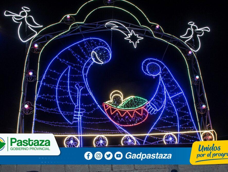 ¡Se encendió alegoría navideña en los hangares del GADPPz!