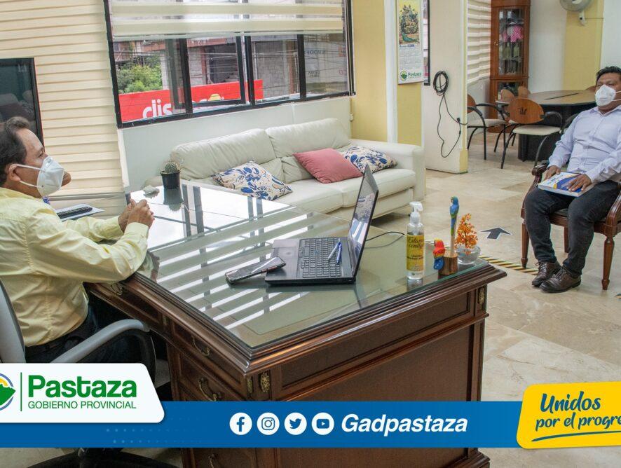 Coordinador General del CONGA visitó al Prefecto de Pastaza para tratar temas de interés regional