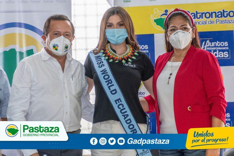 ¡Miss Mundo Ecuador visitó Pastaza para entregar donaciones!