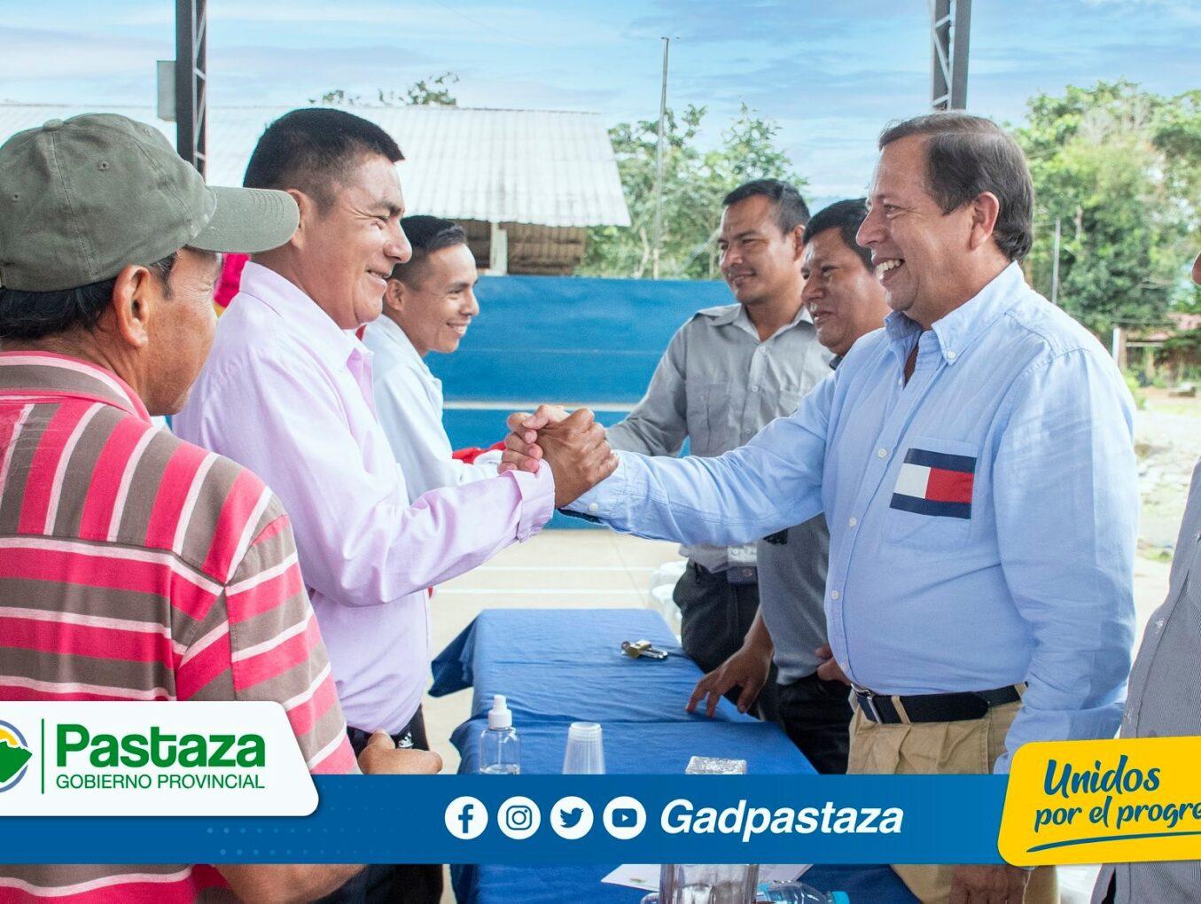 En reunión de trabajo realizada en Chapintza participó el Prefecto de Pastaza