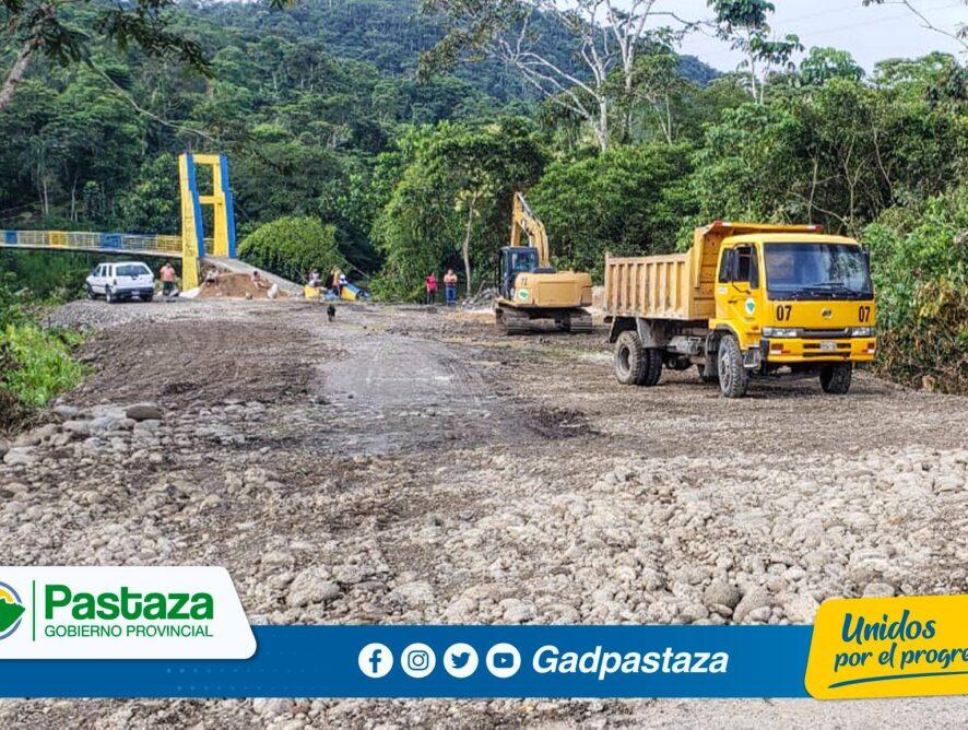 ¡Se realiza mantenimiento de accesos a emprendimientos turísticos de la vía a Pomona!