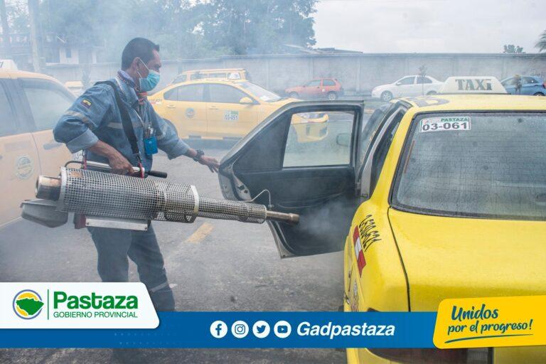 ¡Continuamos con la desinfección de unidades de taxis!