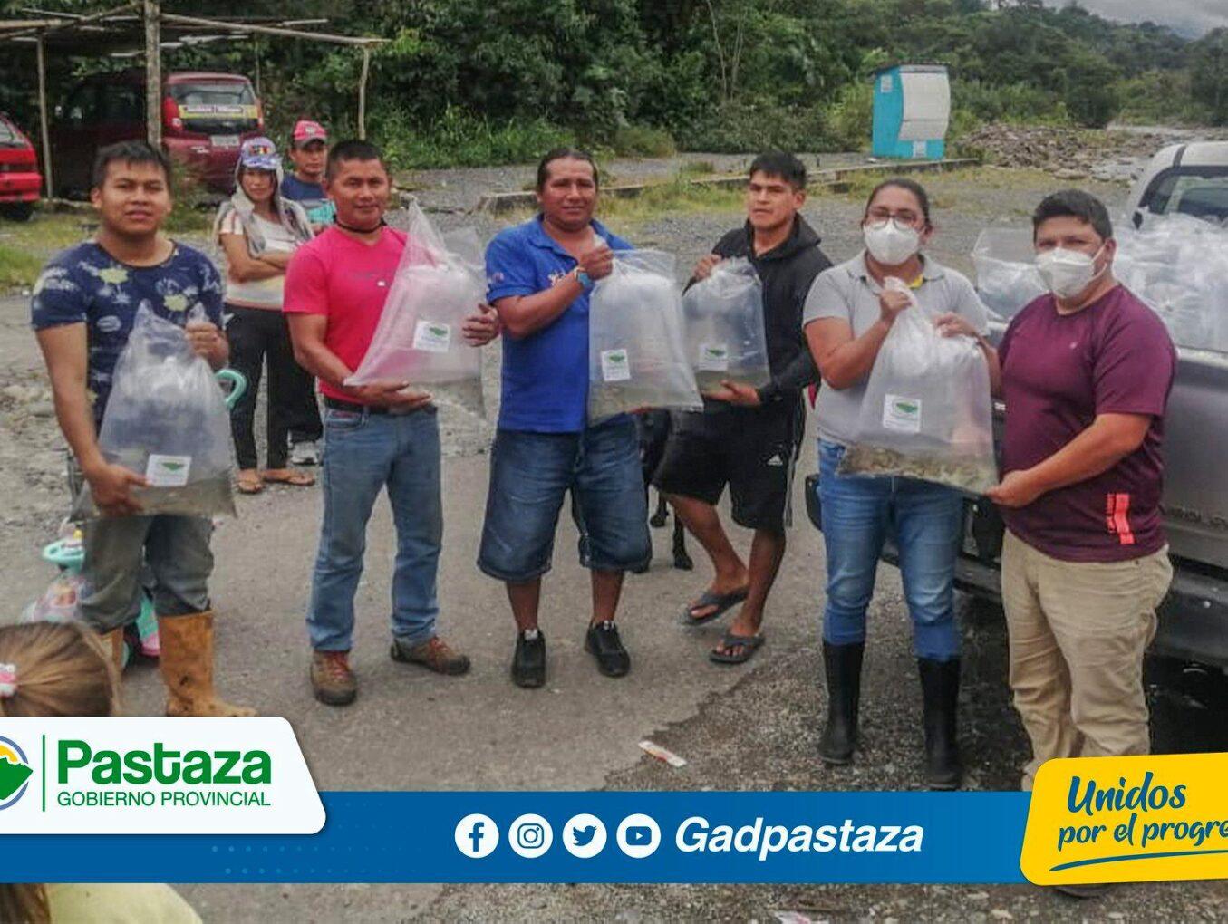 ¡La Prefectura de Pastaza entregó alevines en las parroquias Fátima, El Triunfo y Shell!