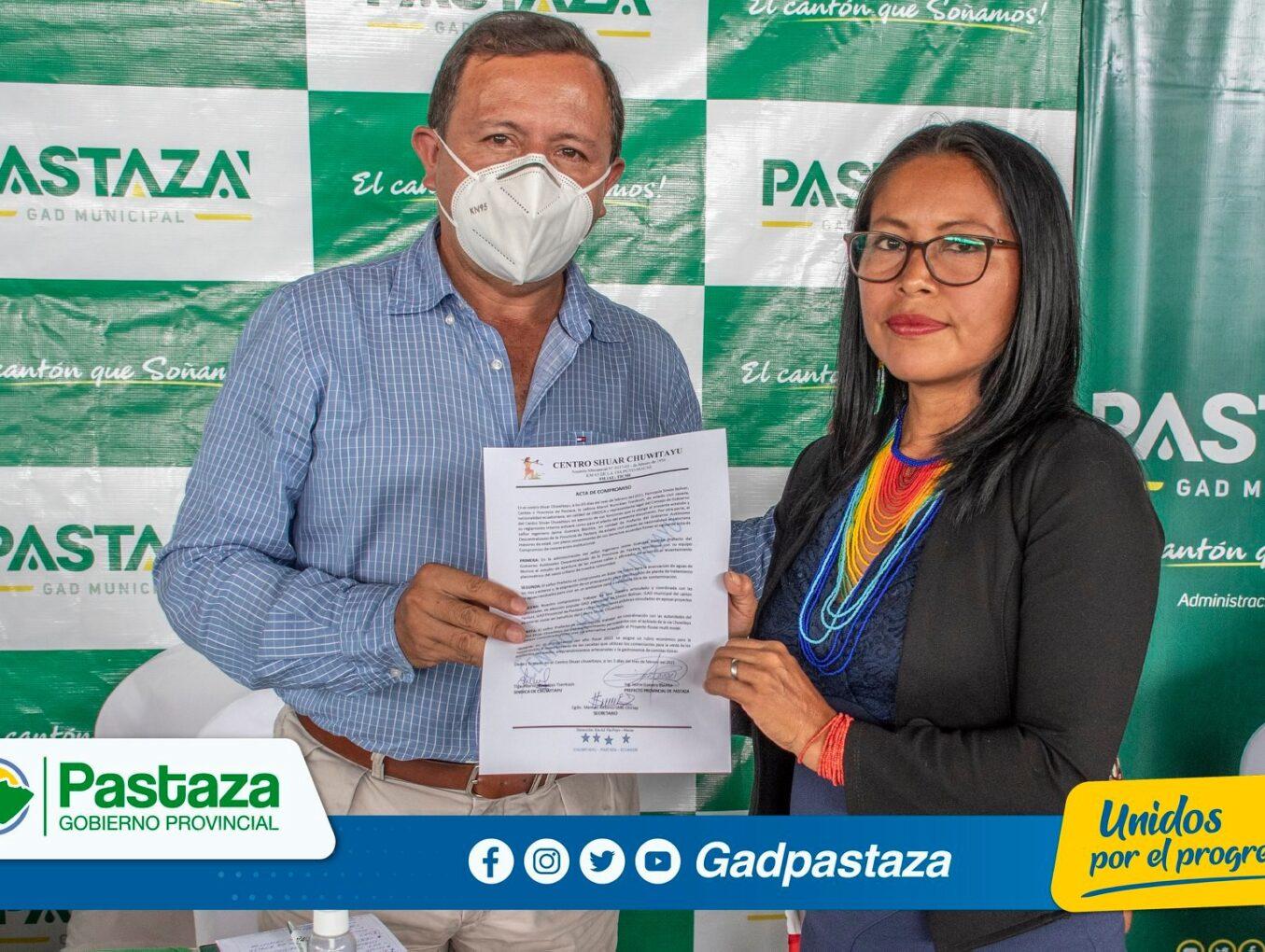 Prefecto de Pastaza asistió a Sesión Solemne por nuevo aniversario de Chuwitayo