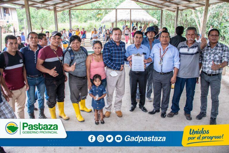 ¡Prefecto, junto autoridades provinciales participaron de la Asamblea Permanente en la comunidad Huito!
