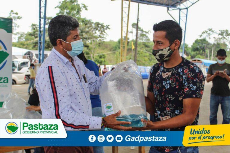 ¡Más familias se benefician de la entrega de alevines en la provincia de Pastaza!