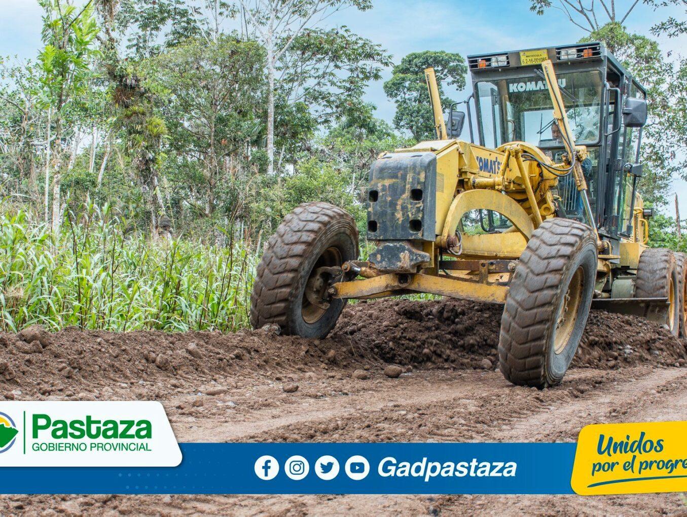 ¡Se dio inicio a los trabajos de mantenimiento en la vía hacia la Asociación Pastaza!