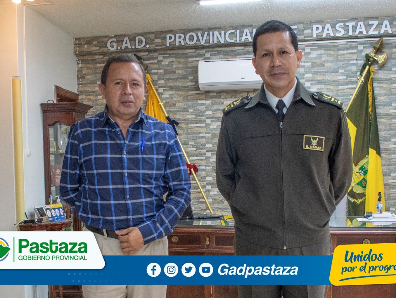 ¡Prefecto recibió en su despacho al Comandante de Policía de la Subzona Pastaza!