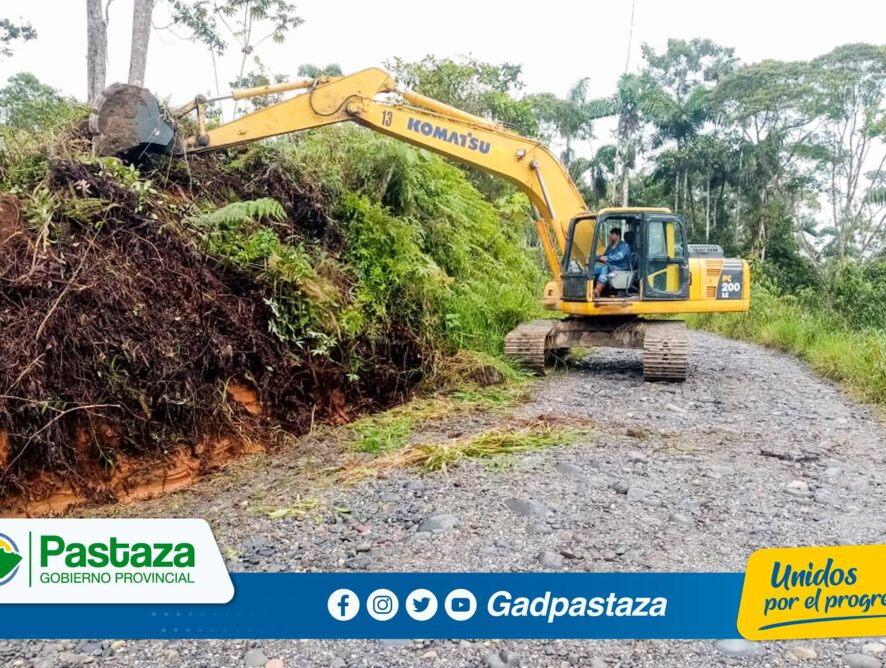 Se realizó mantenimiento de la vía en el sector San Vicente de Villano.