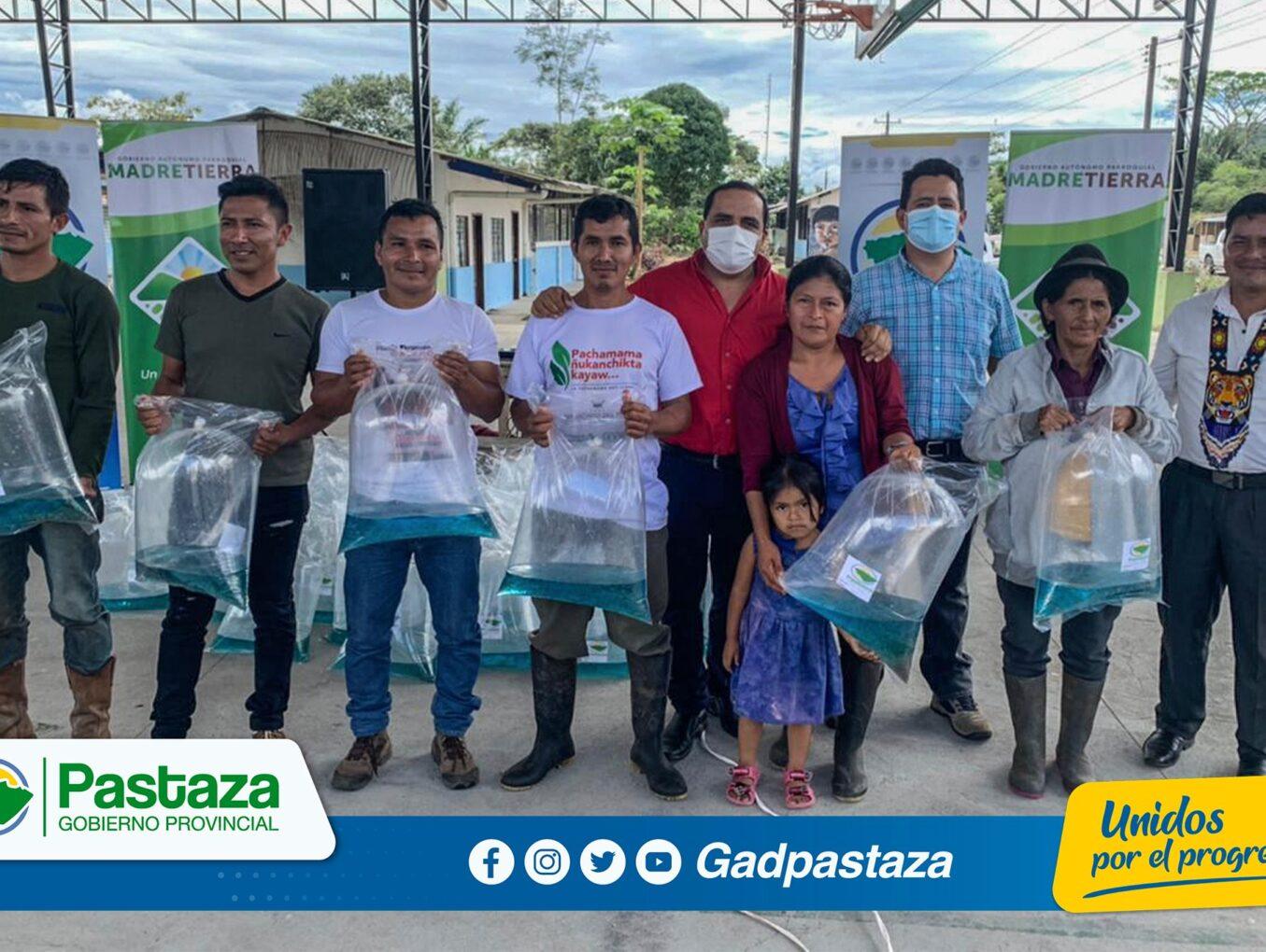 ¡52.675 alevines de tilapia  entregados en la comunidad Amazonas!
