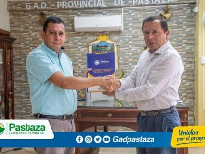 Prefecto mantuvo reunión de trabajo con el rector de la Universidad Estatal Amazónica