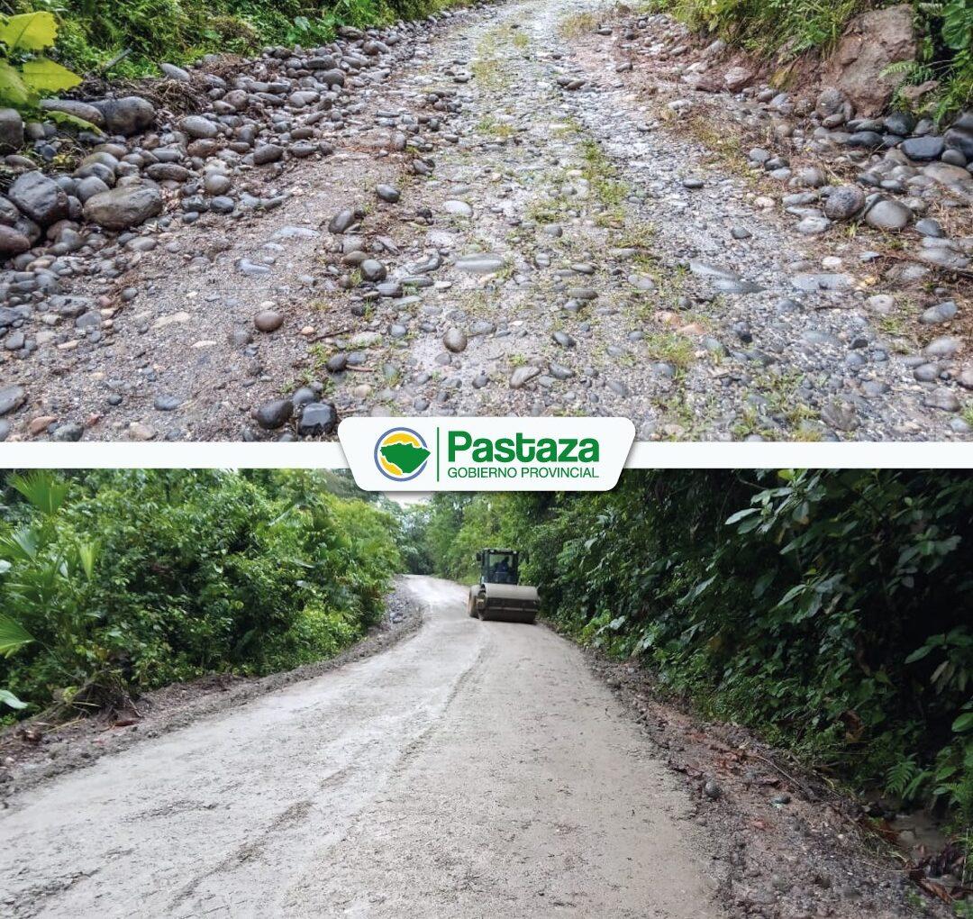 ¡Se realizó mantenimiento  vial en la comunidad Tinguiza!