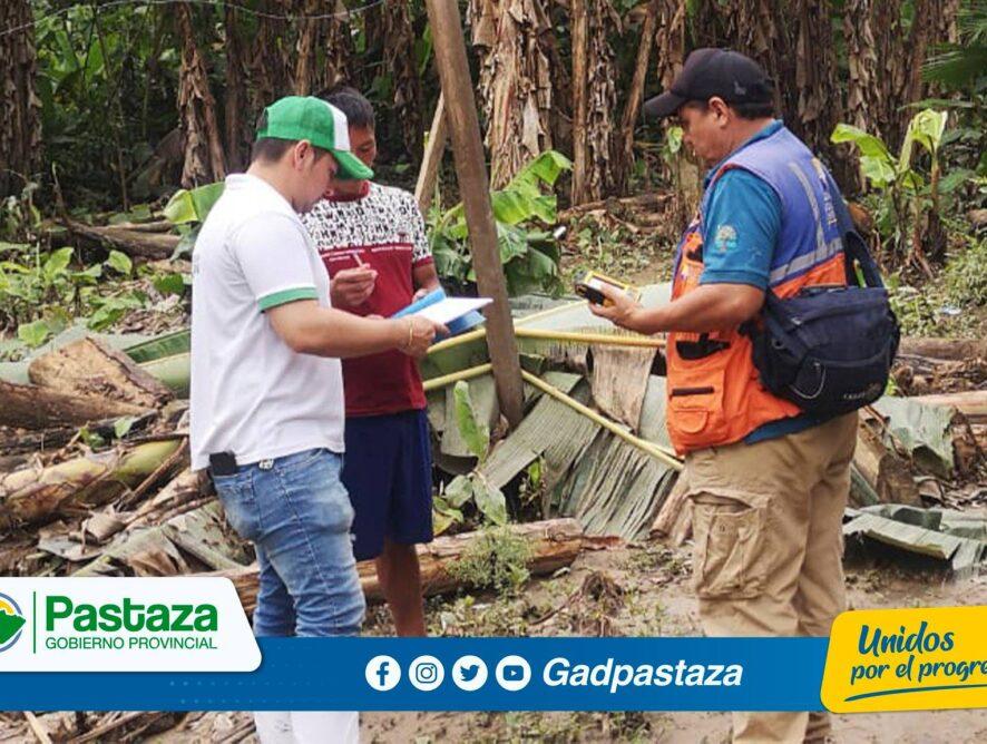 ¡Se constataron daños causados por desbordamiento del río Curaray!