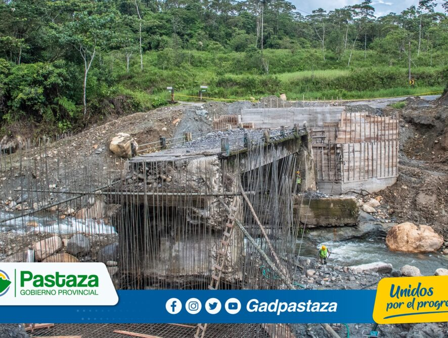 ¡Construcción del puente sobre el río Indillama avanza según planificación!