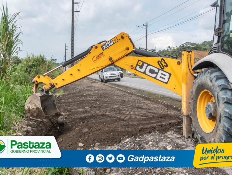 ¡Continua trabajos de construcción  de la caminería del Paso Lateral!