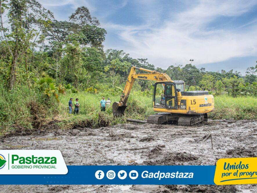 Prefectura de Pastaza realiza trabajos de recuperación de Centro de Reproducción de Alevines