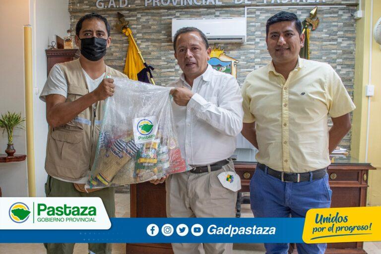 ¡Prefecto entregó kits humanitarios a la Secretaría de Derechos Humanos!