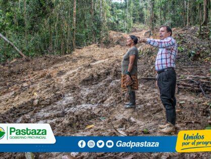 ¡Prefecto verifica avance de los trabajos en la vía Latasas-Umupi!