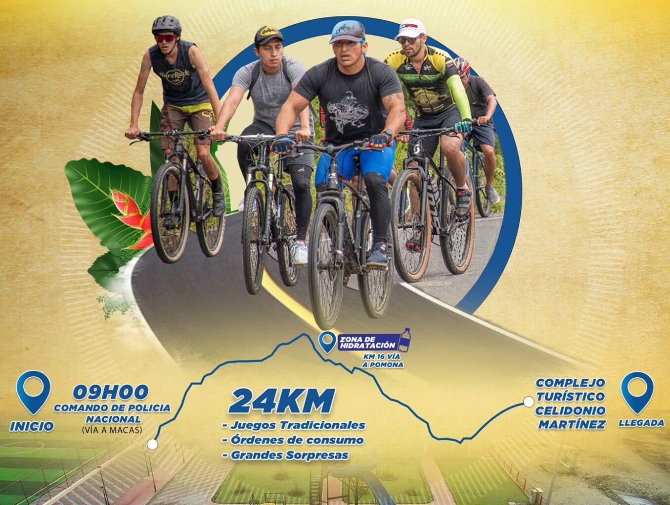 """Ciclo ruta """"Recorre Pastaza"""", llegará al Complejo Turístico """"Celidonio Martínez"""""""