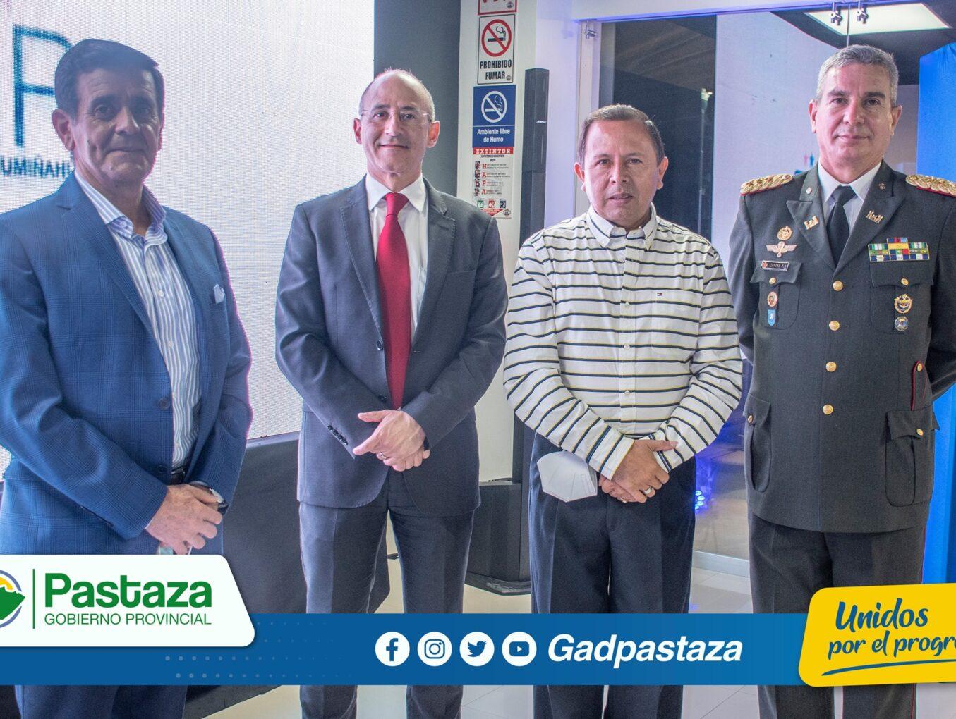 ¡Prefecto participó en la apertura de agencia del BGR Banco General Rumiñahui en Puyo!